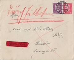 DR Brief Eilbote Mif Minr.414,418 Herford 21.2.31 Vignette Reichs-Handwerker-Woche - Briefe U. Dokumente