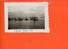 Bateau -Voilier Le Havre L'avant Port  Février 1933 (photo De Dimensions 7 X 5cm) - Voiliers