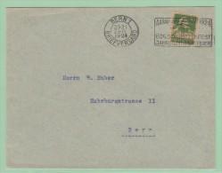 S6. Suisse  Flamme = Schützenfest 1924. à AARAU    Bern 22.4.1924