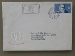 SUISSE / SCHWEIZ / SVIZZERA / SWITZERLAND // FDC, 1948, Mit 20Rp. IMABA-Blockausschnitt, SSt. 21.VIII.48 - Blocs & Feuillets