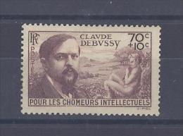 FRANCE. YT 437 Au Profit Des Chômeurs Intellectuels1939 Neuf * - France