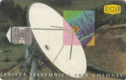 COSTA RICA - Earth Station, ICE Tel telecard, 12/95, used