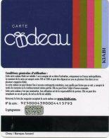 @+ Carte Cadeau - Gift Card : KIABI - Verso Banque Accord Sans Chiffre Bas Droite