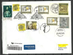 LITAUEN Lithuania 2015 Brief Nach Estland - Lithuania