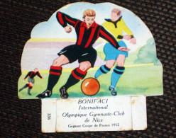 Bonifaci International Nice Coupe De France 1952 Football Image Publicité Petit Grosjean Vache Sérieuse ( Jura ) - Zonder Classificatie