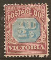 VICTORIA 1890 1/2d Postage Due SG D1 HM #QR311 - 1850-1912 Victoria