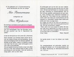 Timmermans Mia Wijnhoven Theo Eygelshoven Kerkrade  Bidprentje Doodsprentje - Religione & Esoterismo