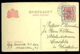 POSTHISTORIE * HANDGESCHREVEN BRIEFKAART Uit 1922 Gelopen Van MEERSSEN Naar COESFELD WESTFALEN  (10.062p) - Entiers Postaux
