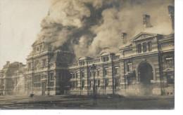 TOURNAI - DOORNIK - Photo Carte: La Gare En Feux - RARE - Circulé: 1912 - Tournai