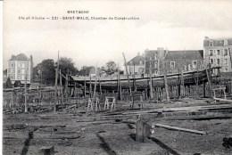 CPA SAINT-MALO 35 - Chantier De Construction - Saint Malo