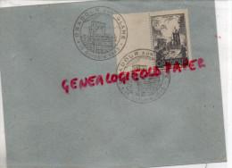 87 - ORADOUR SUR GLANE - ENVELOPPE 1945- EGLISE-  GRAVURE RAOUL SERRES - CACHET POSTE - Oradour Sur Glane