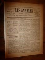 1886 Les Annales :Marchand D'esclaves;La Bastille;Bals,fête Halles, Coiffures;Chanson La Mère De Jeanne;Pasteur;Bréguet - 1850 - 1899