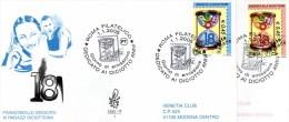 FDC  VENETIA  CLUB  1333/IT   DICIOTTENNI 2004 SU DUE  BUSTE VIAGGIATE - F.D.C.