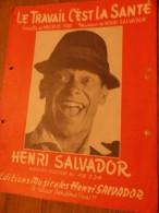 HENRI SALVADOR LE TRAVAIL CEST LA SANTE - Chansonniers