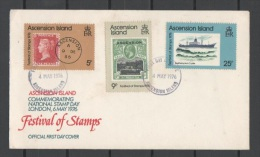 ASCENSION ISLAND - 1976, Stamp Day Mi.  212/14 Serie Cpl. 3v. Su Busta FDC - Ascensione