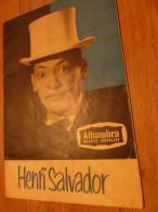 HENRI SALVADOR - Chansonniers