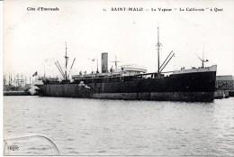 """CPAM SAINT-MALO 35 - Le Vapeur """"La Californie"""" - Saint Malo"""
