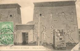 CPA-1915-EGYPTE-ASSOUAN-TEMPLE De PHILAE-RELIEF Sur LeGreat Pylone-TBE - Aswan