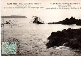 CPA  SAINT-MALO 35 - Naufrage HILDA - Saint Malo
