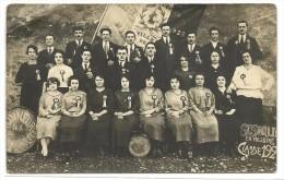 Drome, St Sorlin En Valloire, Conscrits Et Conscrites Classe 1923  (bon Etat Coin Voir Photo)  Carte Photo. - Altri Comuni