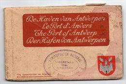 De Haven Van Antwerpen Album Avec 12 Carte Postale Vintage Original Ca1900 Postcard Cpa Ak (W4_1812) - België
