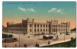 Uruguay Montevideo Tarjeta Postal Nº396 Tramway Carluccio Vintage Original Ca1900 Postcard Cpa Ak (W4_1815) - Uruguay