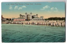 Uruguay Montevideo Tarjeta Postal Ramirez Hotel Beach Vintage Original Ca1900 Postcard Cpa Ak (W4_1816) - Uruguay
