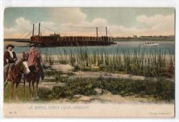 Uruguay Montevideo Tarjeta Postal Ed. Strobach Nº75 Santa Lucia Ferry Vintage Original Ca1900 Postcard Cpa Ak (W4_1 - Uruguay