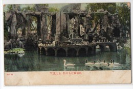 Uruguay Montevideo Tarjeta Postal Ed. Strobach Nº21 Villa Dolores Zoo  Vintage Original Ca1900 Postcard Cpa Ak (W4_ - Uruguay