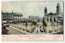 Uruguay Montevideo Tarjeta Postal Ed. Strobach Nº4 Plaza Matriz Original Ca1900 Postcard Cpa Ak (W4_1832) - Uruguay