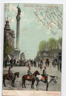Uruguay Montevideo Tarjeta Postal Ed. Strobach Nº9 Military Parade Original Ca1900 Postcard Cpa Ak (W4_1835) - Uruguay