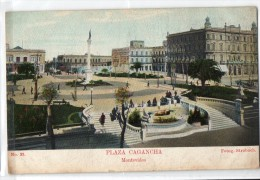 Uruguay Montevideo Tarjeta Postal Ed. Strobach Nº39 Plaza Cagancha Original Ca1900 Postcard Cpa Ak (W4_1839) - Uruguay