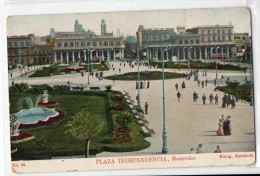 Uruguay Montevideo Tarjeta Postal Ed. Strobach Nº38 Plaza Independencia Original Ca1900 Postcard Cpa Ak (W4_1841) - Uruguay