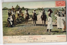 Uruguay Tarjeta Postal Ed. Strobach Ruralia Gaucho Ethnic Nº30 Horse Race Original Ca1900 Postcard Cpa Ak (W4_1842) - Uruguay