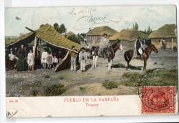 Uruguay Tarjeta Postal Ed. Strobach Ruralia Gaucho Ethnic Nº28 Mud House  Original Ca1900 Postcard Cpa Ak (W4_1843) - Uruguay