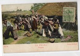 Uruguay Tarjeta Postal Ed. Strobach Ruralia Gaucho Ethnic Nº36 Fight Acordion  Original Ca1900 Postcard Cpa Ak (W4_ - Uruguay