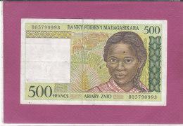 500 FRANCS BANKY FOIBEN'I MADAGASIKARA - Madagascar