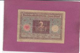 ALLEMAGNE 2 Mark Type  République De Weimar (1920) - [ 3] 1918-1933 : République De Weimar
