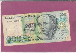 200 DUZENTOS  CRUZADOS NOVOS - Brasilien