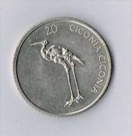 SLOVENIA 20 TOLARJEV 2003 CICONIA CICONIA - Slovénie