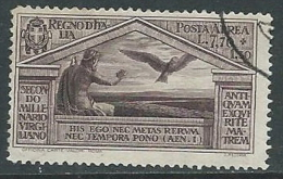 1930 REGNO USATO POSTA AEREA VIRGILIO 7,70 LIRE - U19 - Poste Aérienne