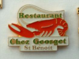 "Pin´s RESTAURANT ""CHEZ GEORGET"" -  ST BENOIT - Pin's"