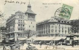 GENEVE MARCHE SUR LE PONT DE L'ILE SUISSE SWITZERLAND - GE Genf