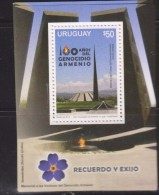 O) 2015 URUGUAY, 100 YEARS OF THE ARMENIA GENOCIDE, SOUVENR MNH - Uruguay