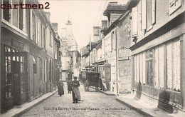 DUN-SUR-AURON LA GRANDE RUE ET L'HORLOGE 18 CHER - Dun-sur-Auron