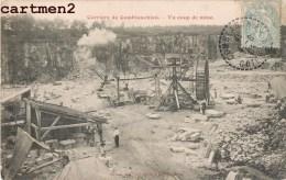 CARRIERE DE COMBLANCHEIN UN COUP DE MINE MINEUR INDUSTRIE MINES 21 COTE-D'OR - France