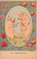 Llustrateur - COCHONS - La Tentation - Pigs