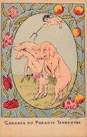 Llustrateur - COCHONS - Chassés Du Paradis Terrestre - Pigs