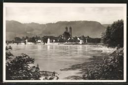 AK Bad Säckingen, Ortsansicht Mit Rhein - Bad Saeckingen
