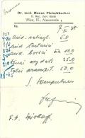 Autriche Facture Ordonnance Médicale 1938 - Austria